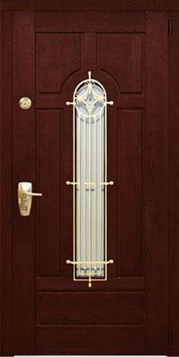 металлическая дверь с элементами ковки г клин