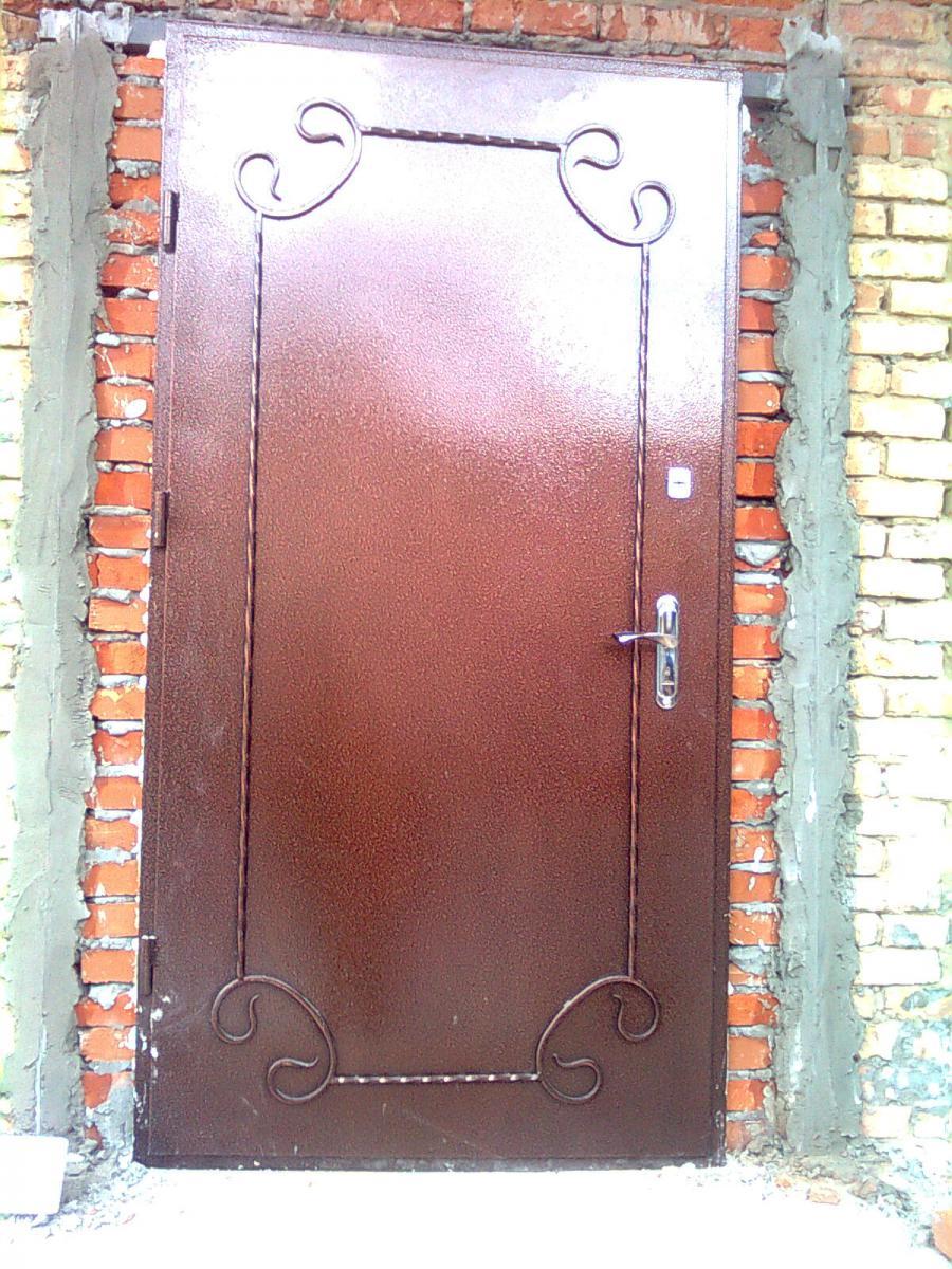 Как сделать входную железную дверь 20