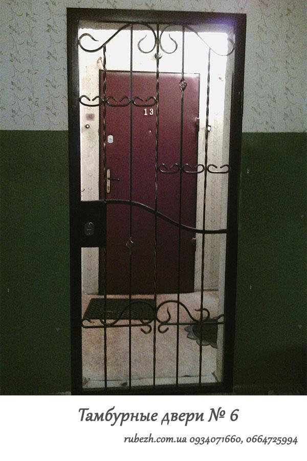 стальные тамбурные двери на площадку