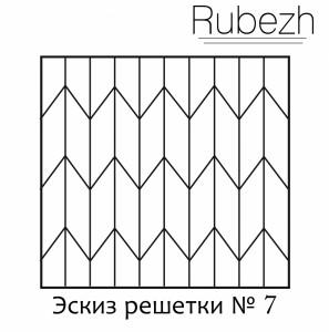 Эскиз решетки на окно № 7